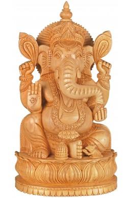 Статуетка на Ганеша дървена